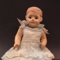 Muñeca española clasica: MUÑECA EN PAPEL MACHE ARTICULADA. Lote 67045354