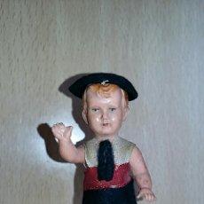 Muñeca española clasica: PEQUEÑO MUÑECO DE CELULOIDE CON BRAZOS ARTICULADOS AÑOS 40. FALANGE ???. Lote 69813001