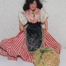Muñeca española clasica: MU145 MUÑECA MINIATURA CON TRAJE REGIONAL. CELULOIDE. 17 CM. ESPAÑA. AÑOS 30. Lote 72133079