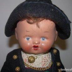 Muñeca española clasica: ANTIGUO MUÑECO Y BONITO MUÑECO DE TERRACOTA OJOS DURMIENTES....PERFECTO ESTADO DE CONSERVACION.. Lote 72189539