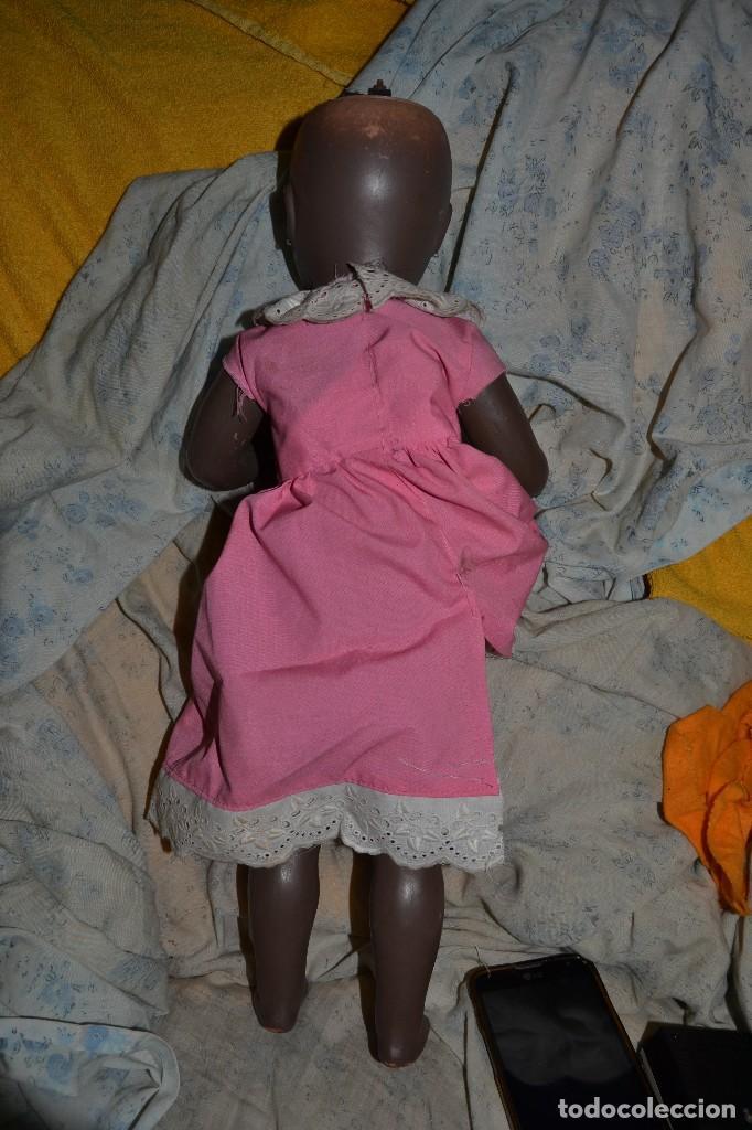 Muñeca española clasica: muñeca negra plastico duro años 50 jc sa - Foto 3 - 73600975