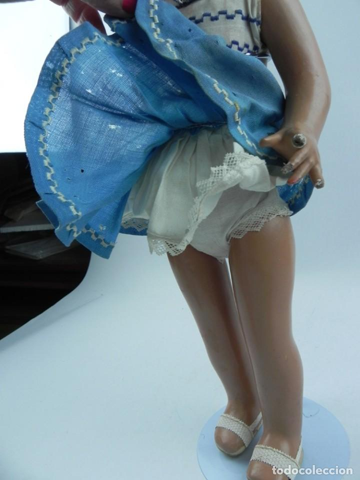 Muñeca española clasica: Muñeca de la serie Molina, años 50. realizada en cartón piedra, cabello de mohair, ojo durmiente, r - Foto 4 - 73758223