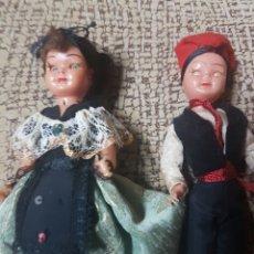 Muñeca española clasica: PAREJA REGIONAL CELULOIDE. Lote 74382911