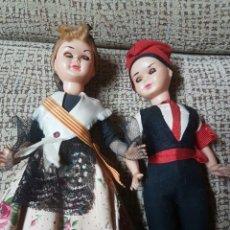 Muñeca española clasica: PAREJA REGIONAL CELULOIDE. Lote 74383162