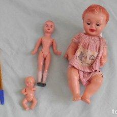 Muñeca española clasica: ANTIGUA MUÑECA Y MUÑECOS EN CIANOCRILATO , BUEN ESTADO.. Lote 74467043