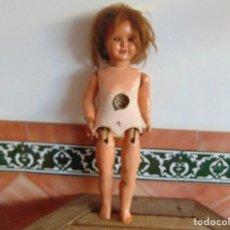Muñeca española clasica: MUÑECA EN CARTON PIEDRA Y MADERA ANDADORA RESTAURAR MIDE 65 CM. Lote 74743199