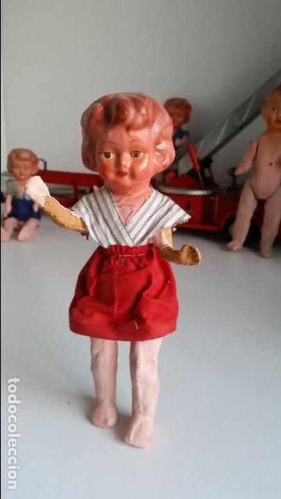Muñeca española clasica: Muñeca española, carton piedra, muy antigua Antique spanish papier mache doll - Foto 4 - 75514199