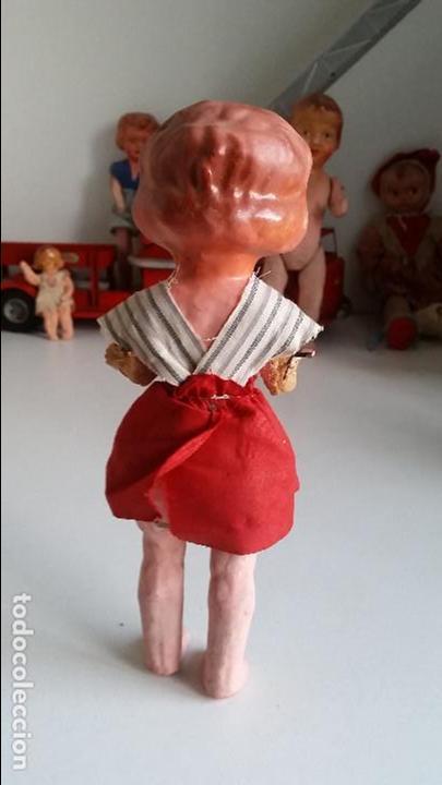 Muñeca española clasica: Muñeca española, carton piedra, muy antigua Antique spanish papier mache doll - Foto 5 - 75514199