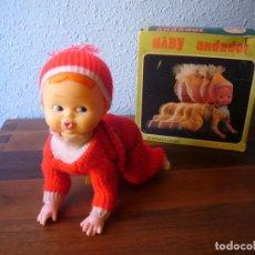 Muñeca española clasica: MUÑECO BABY ANDADOR DE FEBER FUNCIONANDO. Lote 76963225