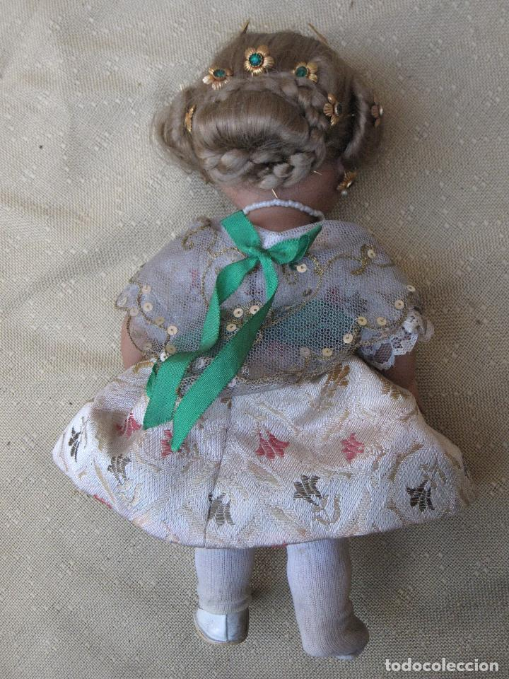 Muñeca española clasica: MUÑECA ANTIGUA CON TRAJE REGIONAL - FALLERA O VALENCIANA - OJOS MOVIBLES. - Foto 5 - 78441497