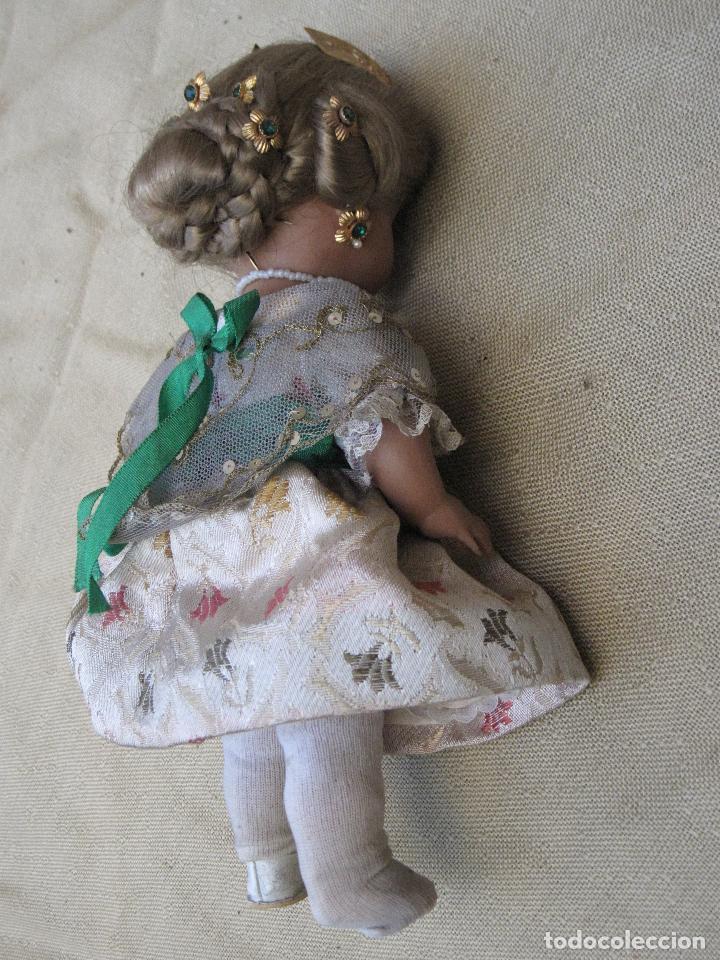 Muñeca española clasica: MUÑECA ANTIGUA CON TRAJE REGIONAL - FALLERA O VALENCIANA - OJOS MOVIBLES. - Foto 6 - 78441497