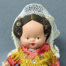 Muñeca española clasica: MUÑECA TERRACOTA TRAJE REGIONAL AÑOS 40 - 50 15 CM ALTO. Lote 79756817