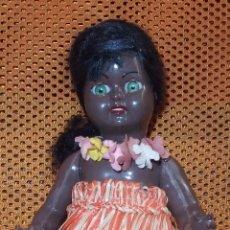 Muñeca española clasica: MUÑECA NEGRITA DE CELULOIDE,FAMOSA,AÑOS 50. Lote 80920376