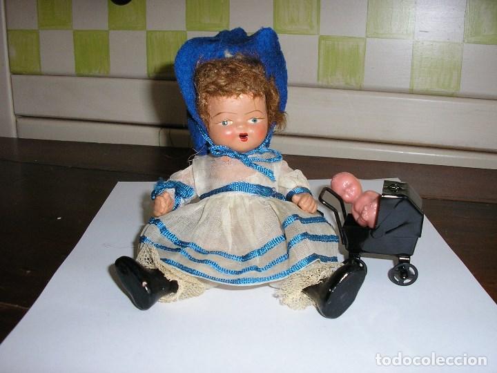 Muñeca española clasica: MUÑECA DE TERRACOTA, ESTADO EXCELENTE. VESTIDO DE ORGANZA DE ORIGEN. 16 CM DE ALTURA - Foto 5 - 81318536
