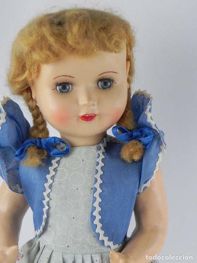 Muñeca española clasica: ANTIGUA MUÑECA DE PRINCIPIOS DE FAMOSA , REALIZADA EN CARTON PIEDRA BONITA PELUCA CABELLO MOHAIR - Foto 2 - 81642648