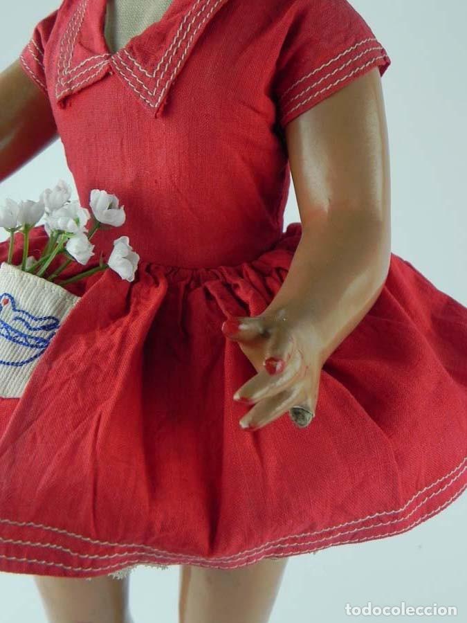 Muñeca española clasica: ANTIGUA MUÑECA DE PRINCIPIOS DE FAMOSA , REALIZADA EN CARTÓN PIEDRA BONITA PELUCA CABELLO MOHAIR - Foto 3 - 81643600
