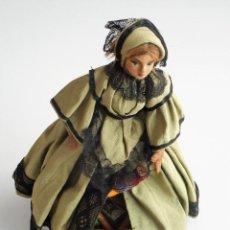 Muñeca española clasica: PRECIOSA MUÑECA COSTURERO ART-DECO ORIGINAL - PRINCIPIOS S. XX - ALTURA 27 CM. Lote 81656544