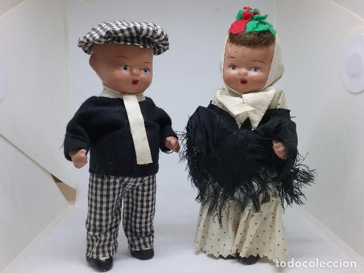 Muñeca española clasica: PAREJA DE CHULAPOS MADRILEÑOS EN TERRACOTA - AÑOS 40-50 - Foto 2 - 86710344