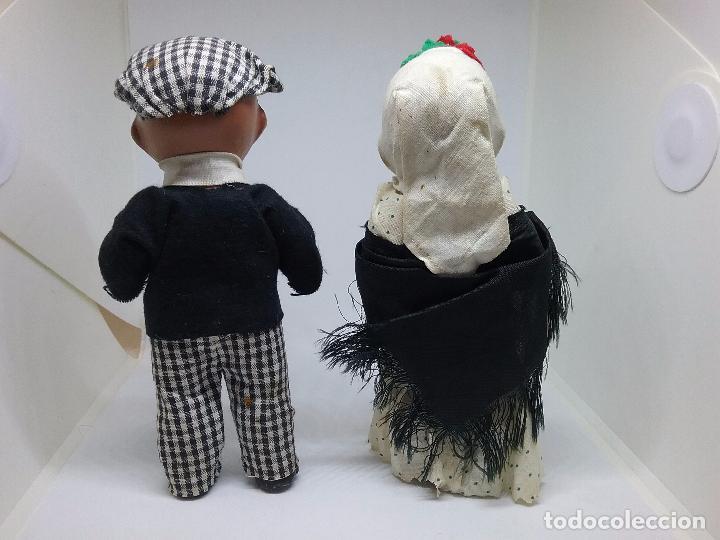 Muñeca española clasica: PAREJA DE CHULAPOS MADRILEÑOS EN TERRACOTA - AÑOS 40-50 - Foto 3 - 86710344