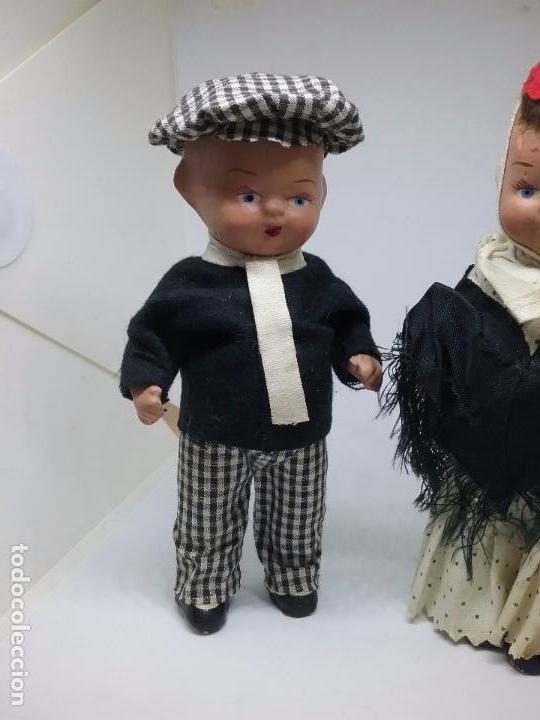 Muñeca española clasica: PAREJA DE CHULAPOS MADRILEÑOS EN TERRACOTA - AÑOS 40-50 - Foto 4 - 86710344