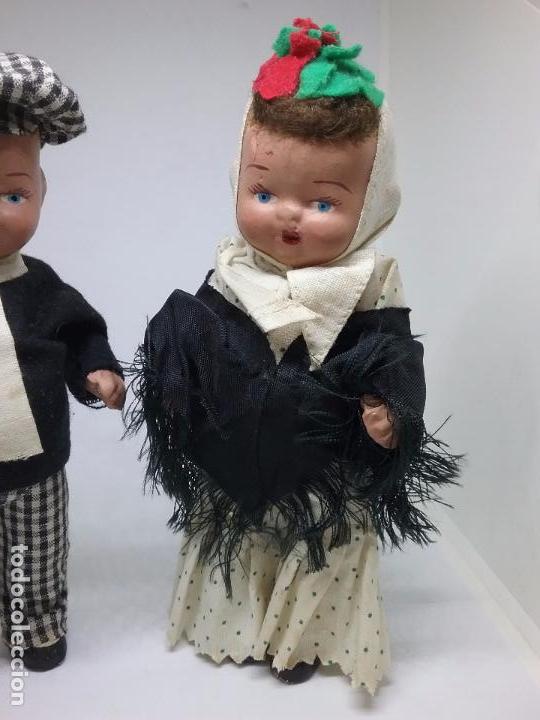 Muñeca española clasica: PAREJA DE CHULAPOS MADRILEÑOS EN TERRACOTA - AÑOS 40-50 - Foto 5 - 86710344