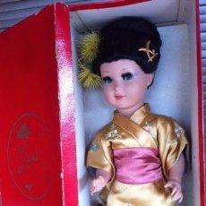 Muñeca española clasica: MUÑECA LINDA GEISHA BUEN ESTADO ,CON SU CAJA ORIGINAL. Lote 86739952