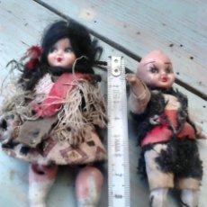 Muñeca española clasica: ANTIGUA PAREJA DE MUÑECAS MINI,REGIONALES,VER FOTOS. Lote 87209219