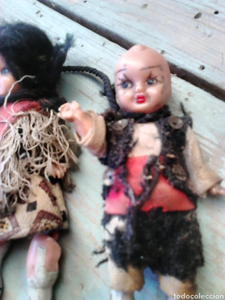 Muñeca española clasica: Antigua pareja de muñecas mini,regionales,ver fotos - Foto 2 - 87209219