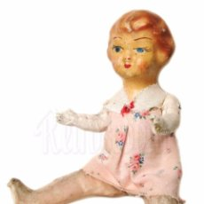 Muñeca española clasica: PRECIOSA MUÑECA DE CARTON PIEDRA CON LAS EXTREMIDADES ARTICULADAS AÑOS 40. Lote 87522696