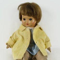Muñeca española clasica: MUÑECA MILIQUITA FLORIDO CON POSIBLE CABEZA DE MARIQUITA PÉREZ AÑOS 50. Lote 87775380