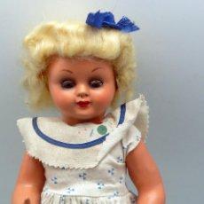 Klassische spanische Puppen - Muñeca popular celuloide cartón piedra ojo durmiente ropa original peluca calzado años 50 35 cm - 88131236