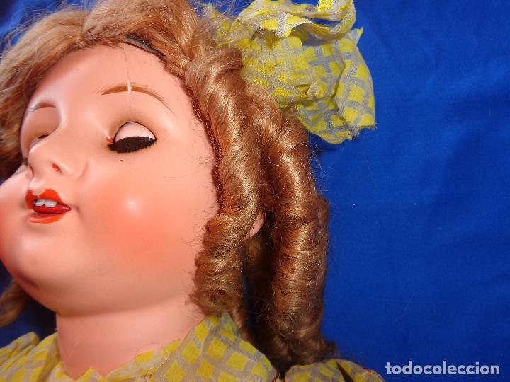 Muñeca española clasica: ANTIGUA MUÑECA COMPOSICIÓN,OJOS DE CRISTAL,MIDE UNOS 65 CM TODA DE ORIGEN VER DESCRIPCION!! SM - Foto 16 - 89050036