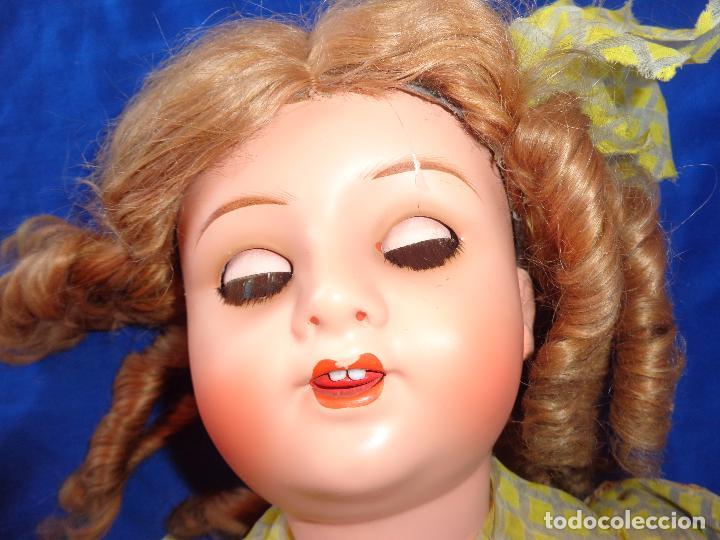Muñeca española clasica: ANTIGUA MUÑECA COMPOSICIÓN,OJOS DE CRISTAL,MIDE UNOS 65 CM TODA DE ORIGEN VER DESCRIPCION!! SM - Foto 20 - 89050036