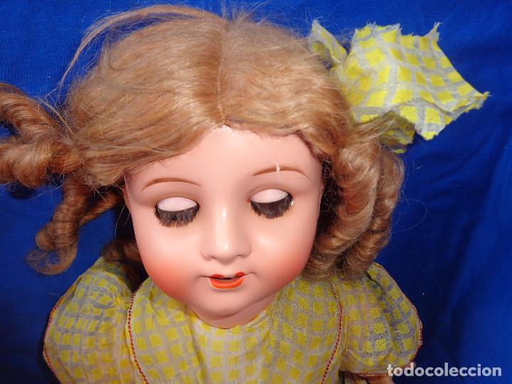 Muñeca española clasica: ANTIGUA MUÑECA COMPOSICIÓN,OJOS DE CRISTAL,MIDE UNOS 65 CM TODA DE ORIGEN VER DESCRIPCION!! SM - Foto 21 - 89050036