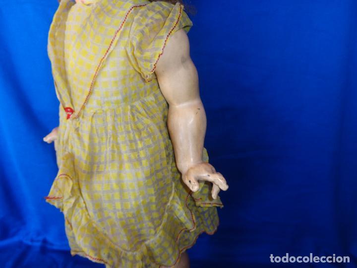 Muñeca española clasica: ANTIGUA MUÑECA COMPOSICIÓN,OJOS DE CRISTAL,MIDE UNOS 65 CM TODA DE ORIGEN VER DESCRIPCION!! SM - Foto 25 - 89050036