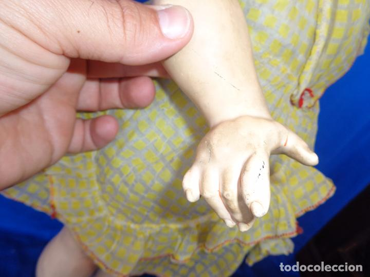 Muñeca española clasica: ANTIGUA MUÑECA COMPOSICIÓN,OJOS DE CRISTAL,MIDE UNOS 65 CM TODA DE ORIGEN VER DESCRIPCION!! SM - Foto 26 - 89050036