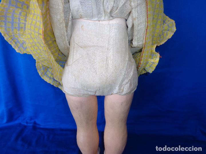 Muñeca española clasica: ANTIGUA MUÑECA COMPOSICIÓN,OJOS DE CRISTAL,MIDE UNOS 65 CM TODA DE ORIGEN VER DESCRIPCION!! SM - Foto 31 - 89050036