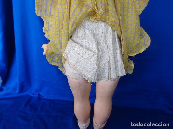 Muñeca española clasica: ANTIGUA MUÑECA COMPOSICIÓN,OJOS DE CRISTAL,MIDE UNOS 65 CM TODA DE ORIGEN VER DESCRIPCION!! SM - Foto 32 - 89050036