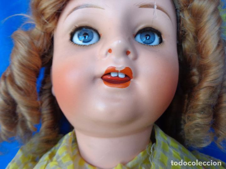 Muñeca española clasica: ANTIGUA MUÑECA COMPOSICIÓN,OJOS DE CRISTAL,MIDE UNOS 65 CM TODA DE ORIGEN VER DESCRIPCION!! SM - Foto 36 - 89050036