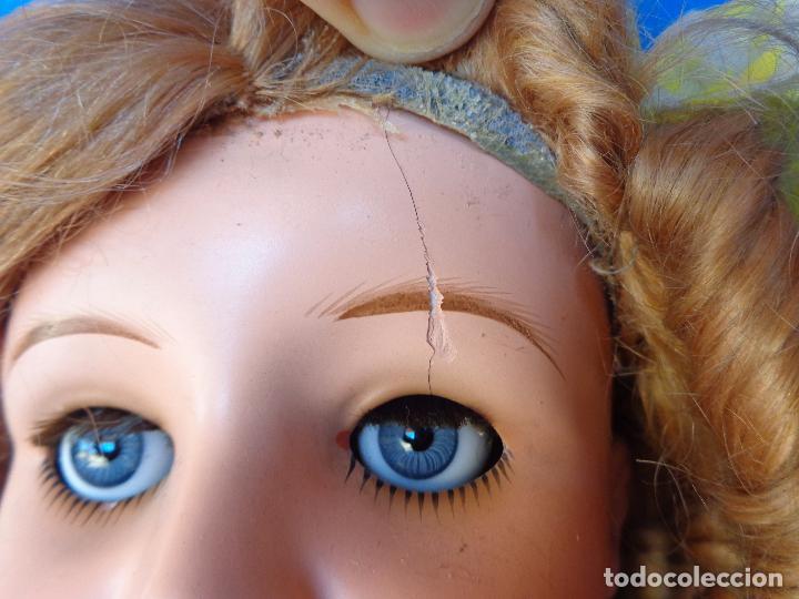 Muñeca española clasica: ANTIGUA MUÑECA COMPOSICIÓN,OJOS DE CRISTAL,MIDE UNOS 65 CM TODA DE ORIGEN VER DESCRIPCION!! SM - Foto 39 - 89050036
