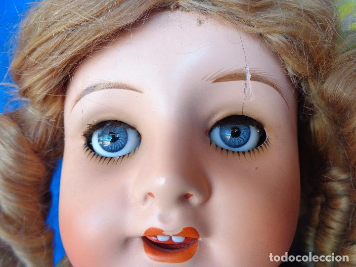 Muñeca española clasica: ANTIGUA MUÑECA COMPOSICIÓN,OJOS DE CRISTAL,MIDE UNOS 65 CM TODA DE ORIGEN VER DESCRIPCION!! SM - Foto 41 - 89050036