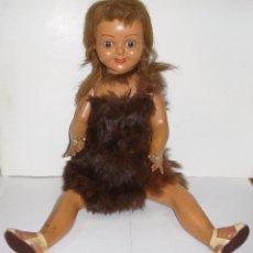 Muñeca española clasica: ANTIGUA MUÑECA DE CARTÓN PIEDRA. OJOS DURMIENTES. AÑOS 40.. Lote 89686416