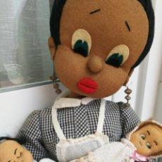 Muñeca española clasica: MUÑECA ANTIGUA DE FIELTRO NANI NEGRITA. Lote 90136871