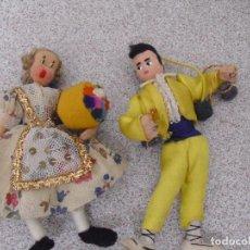 Muñeca española clasica: PAREJA MUÑECOS VALENCIANOS FIELTRO. Lote 91007250