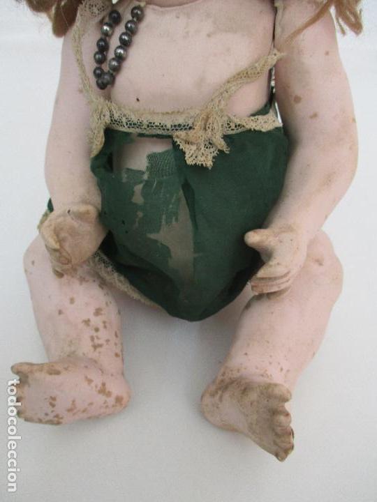 Muñeca española clasica: Antigua Muñeca - Cartón Piedra - Cabello Mohair - Ojos de Cristal Durmientes - Original - Años 20-30 - Foto 11 - 91266640