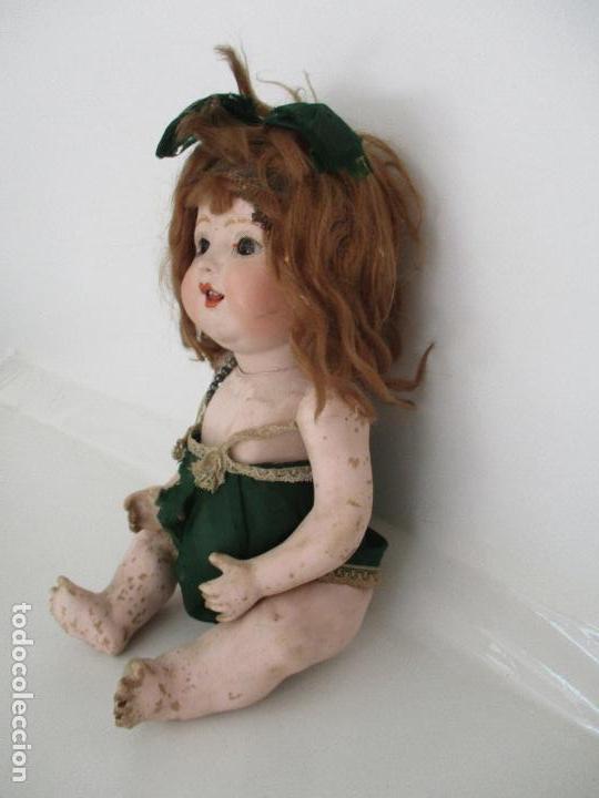 Muñeca española clasica: Antigua Muñeca - Cartón Piedra - Cabello Mohair - Ojos de Cristal Durmientes - Original - Años 20-30 - Foto 27 - 91266640