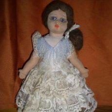 Muñeca española clasica: BONITA MUÑECA PAGES ORIGINAL SPAIN TELA Y SERRIN AÑO 1920 OJOS CRISTAL PELO MOHAIR. Lote 91725760