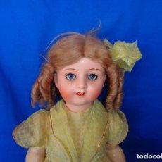 Muñeca española clasica: ANTIGUA MUÑECA COMPOSICIÓN,OJOS DE CRISTAL,MIDE UNOS 65 CM TODA DE ORIGEN VER DESCRIPCION!! SM. Lote 89050036