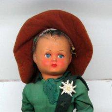 Muñeca española clasica: MUÑECO CELULOIDE TIROLES 45 CM. Lote 93014320
