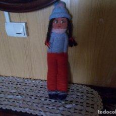 Muñeca española clasica: MUÑECA ANTIGUA DE LANA MARI PEPA ,ES DE LOS AÑOS 50,MIDE SOBRE 40 CENT. Lote 94244525
